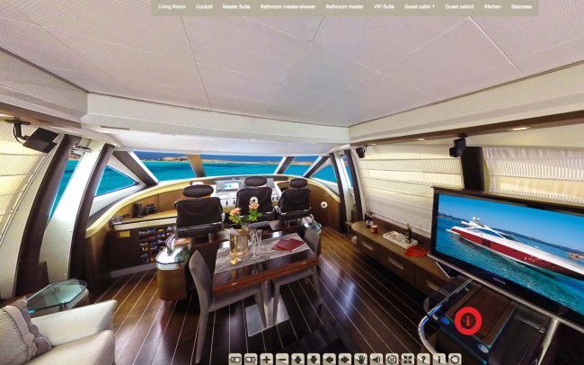 360 VIDEO VIRTUAL TOUR IN LUXURY SHIP